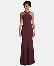 c954367a9ba6 Nightway Lace Keyhole Halter Gown & Reviews - Dresses - Women - Macy's
