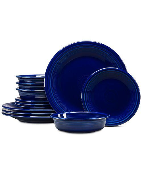 Fiesta Cobalt 12-Pc. Classic Dinnerware Set, Service for 4