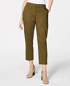 Eileen Fisher Cropped Organic Cotton Twill Pants