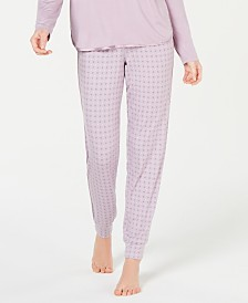 Alfani Ultra Soft Satin-Trimmed Jogger Pajama Pants, Created for Macy's