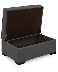 """Astra 36"""" Fabric Chair Bed Storage Ottoman, Created for Macy's"""