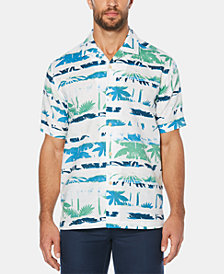 Cubavera Men's Abstract Palm Tree Short-Sleeve Linen Shirt