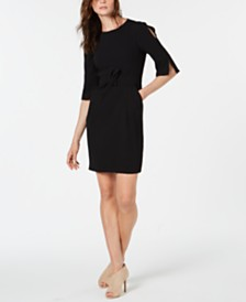 Marella Split-Sleeve Bow Dress