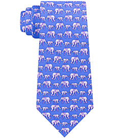 Tommy Hilfiger Men's Slim Elephant Silk Tie