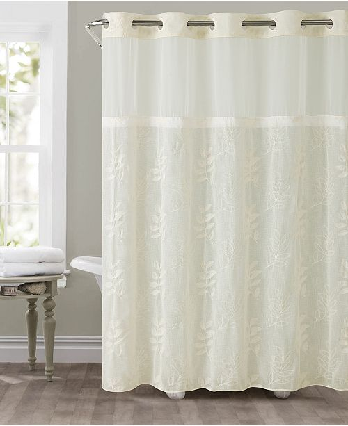 Hookless Palm Leaves 3 In 1 Shower Curtain