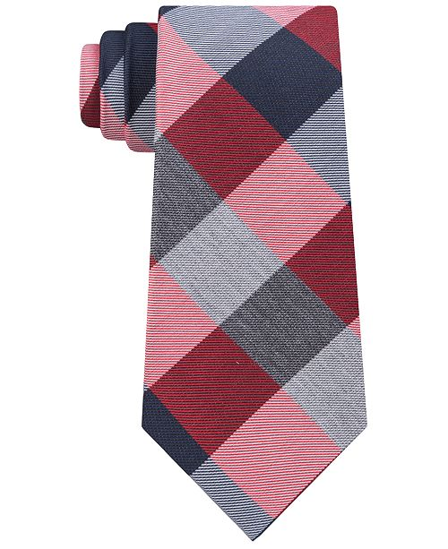 Tommy Hilfiger Men's Classic Buffalo Plaid Tie