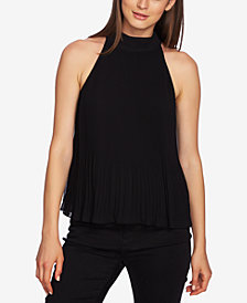 1.STATE Halter-Tie Pleated Top