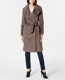 Calvin Klein Notch-Collar Wrap Coat