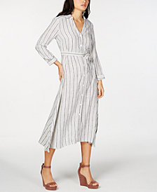 I.N.C. Striped Shirtdress, Created for Macy's