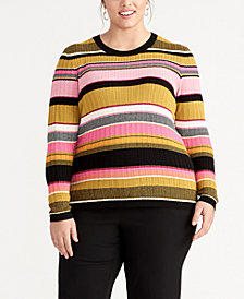 RACHEL Rachel Roy Striped Sweater, Created for Macy's