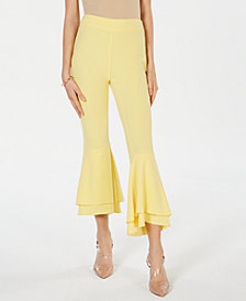 I.N.C. Double-Ruffle Ankle Pants, Created for Macy's