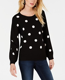 I.N.C. Polka-Dot Pullover Sweater, Created for Macy's