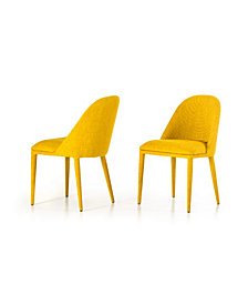 Brooke - Modern Fabric Dining Chair Set of 2