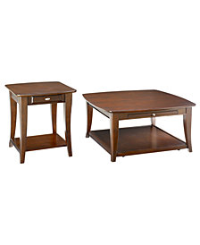 Quinn Table Collection, 2 Piece Set (Square Coffee Table and End Table)