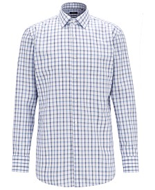 BOSS Men's Slim-Fit Checked Oxford Shirt