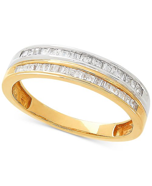 Macy's Diamond Stack-Look Ring (1/5 ct. t.w.) in 10k Gold & White Gold