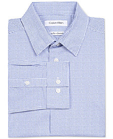 Calvin Klein Big Boys Box-Print Stretch Shirt