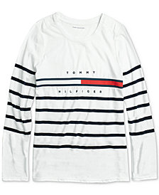 Tommy Hilfiger Adaptive Women's Tina Saint James Striped Tee
