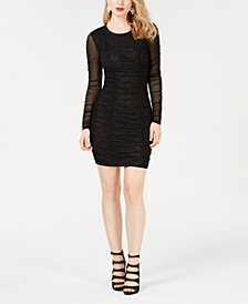 GUESS Ria Lace Ruched Dress