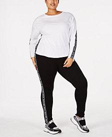 MICHAEL Michael Kors Plus Size Logo-Tape Top & Leggings