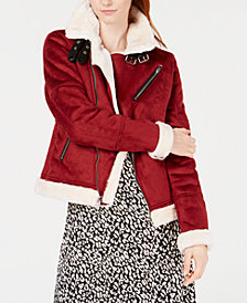 Reason Faux-Fur Moto Jacket
