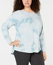 f052e12c183 Calvin Klein Performance Plus Size Tie-Dyed Drop-Shoulder T-Shirt