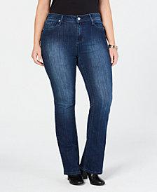 Seven7 Jeans Plus Size Rocker Slim Bootcut Jeans