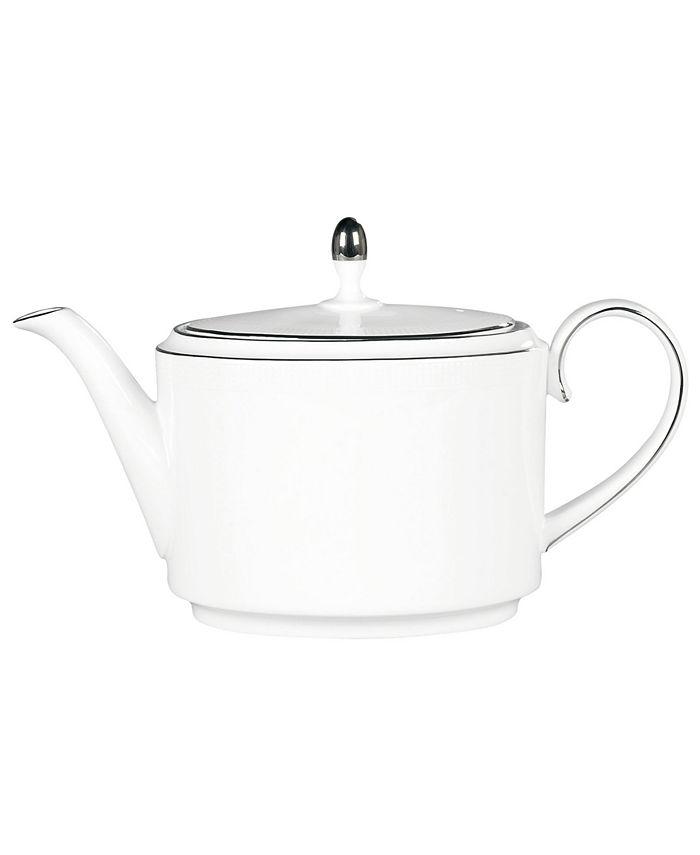 "Vera Wang Wedgwood - Vera Wang ""Blanc sur Blanc"" Teapot, 22.5 oz."