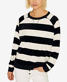 Sanctuary La Brea Striped Raglan-Sleeve Sweatshirt
