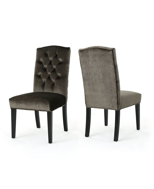 Furniture Nickolai Dining Chairs (Set of 2), Quick Ship