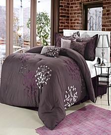Cheila 12 Piece Queen Comforter