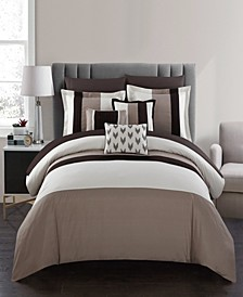 Ayelet 10 Piece Queen Bed In a Bag Comforter Set