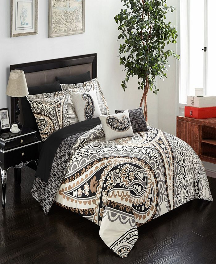 Chic Home - Del Mar 8-Pc. Twin Bed In a Bag Comforter Set