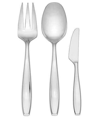 Dansk Flatware 18/10, Classic Fjord II 3 Piece Hostess Set
