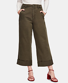 Free People On My Mind Wide-Leg Cuffed Pants