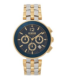 Versus Men's Logo Chronograph Two-Tone Stainless Steel Bracelet Watch 44mm
