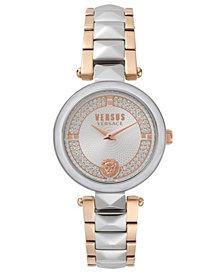 Versus Women's Convent Garden Crystal Two-Tone Stainless Steel Bracelet Watch 36mm