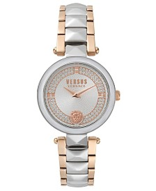 Versus Women's Convent Garden Crystal Two-Tone Stainless Steel Bracelet Watch 36mm