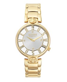 Versus Women's Kristenhof Yellow Gold-Tone Stainless Steel Bracelet Watch 34mm