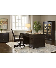 Clinton Hill Ebony Home Office Executive Desk, Created for Macy's