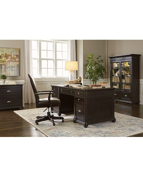 Ebony Home Office Executive Desk