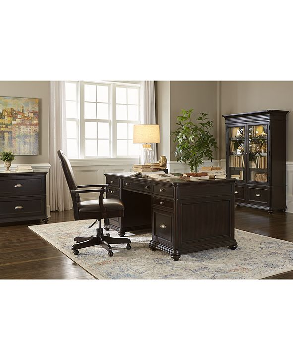 Furniture Clinton Hill Ebony Home Office Furniture Collection, Created for Macy's