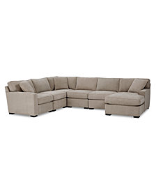 Radley Fabric 6-Pc. Chaise Sectional Sofa with Corner Piece - Custom Colors, Created for Macy's