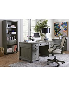 Sloane Home Office, 4-Pc. Set (Executive Desk, Lateral File Cabinet, Open Bookcase & Upholstered Desk Chair), Created for Macy's