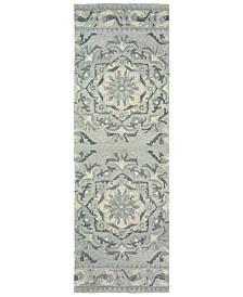 "Oriental Weavers Craft 93001 Ash/Ivory 2'6"" x 8' Runner Area Rug"