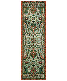 "Oriental Weavers Dawson 8490B Blue/Rust 2'3"" x 7'6"" Runner Area Rug"