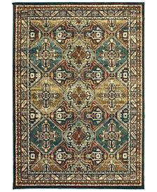 "Oriental Weavers Dawson 8527A Teal/Brown 9'10"" x 12'10"" Area Rug"