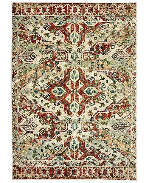 "Oriental Weavers Dawson 8533A Rust/Ivory 6'7"" x 9'6"" Area Rug"
