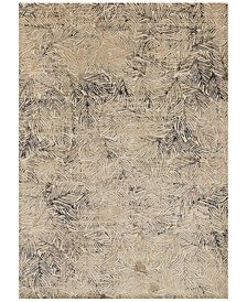 "Dreamscape DM-04 Charcoal/Beige 3'11"" x 5'9"" Area Rug"