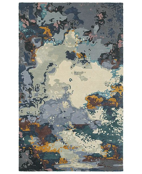 Oriental Weavers Galaxy 21903 Blue/Gray 5' x 8' Area Rug